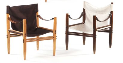Gian Franco LEGLER  (XX)  Suite de 2 fauteuils...