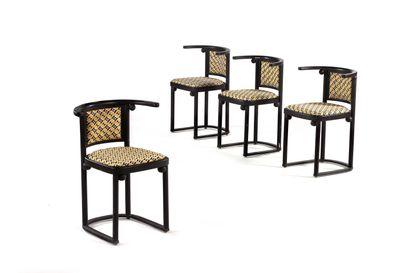 Josef HOFFMANN  (1870-1956)  4 chaises de...
