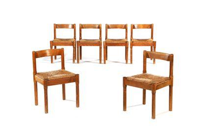 Vico MAGISTRETTI  (1920-2006)  6 chaises...