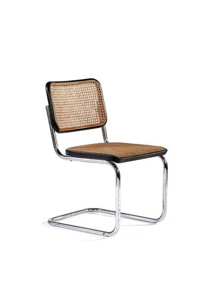 Marcel BREUER  (1902-1981)  Chaise dite Cesca...