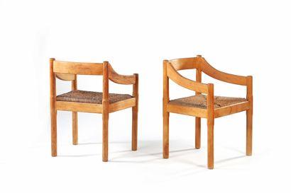 Vico MAGISTRETTI  (1920-2006)  2 fauteuils...