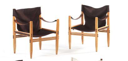 Gian Franco LEGLER  (XX)  Paire de fauteuils...