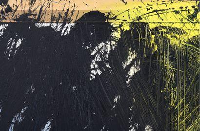 Hans HARTUNG (1904-1989)  P 40 1985 H1  Acrylique sur carton monté sur planche,...