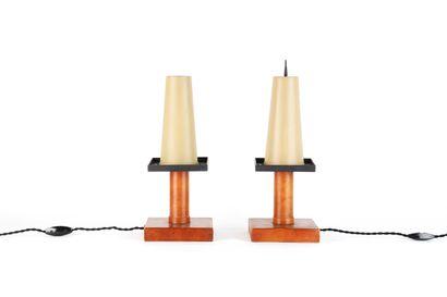 Paul DUPRE-LAFON (1900-1971)  Paire de lampes...