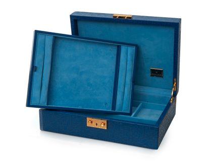 Rolex  Coffret en cuir bleu moyen « Rolex...