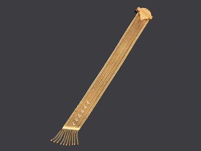 Bracelet en or jaune 18K 750 millièmes à...