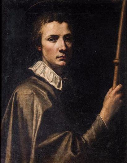 Ecole Lombarde vers 1600  Portrait d'homme. Toile.  66,5 x 51,5 cm.