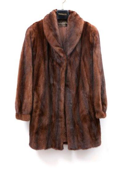 FLEMMINGTON Furs Manteau en Vison pastel...