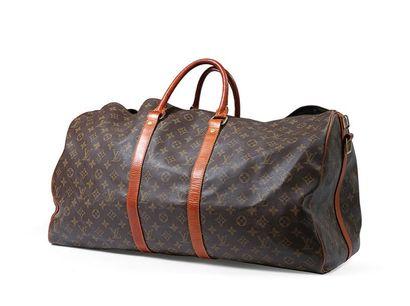 Louis Vuitton sac Keepall 60 cm en toile...
