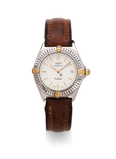 BREITLING. (Vers 2000). Montre dame ronde,...