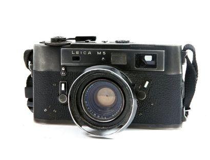 Boîtier Leica M5 noir (1973) n°1359535 (manques)...