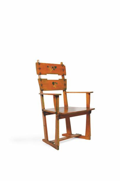 Gustave Serrurier-Bovy (1858-1910)  Fauteuil...