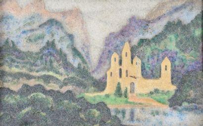 Jean Cros (1884-1932)  « Château au fond...