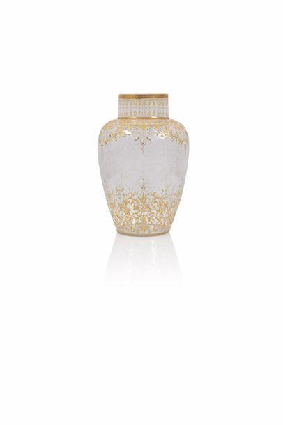 Moser à Karlsbad  Vase de forme pansue à...