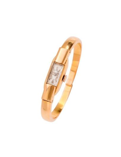 CAERIX Montre de dame en or jaune 750 millièmes...