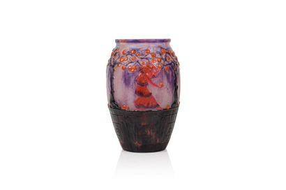 Gabriel ARGY-ROUSSEAU (1885-1953) « Le jardin des Hespérides » Rare vase de forme...