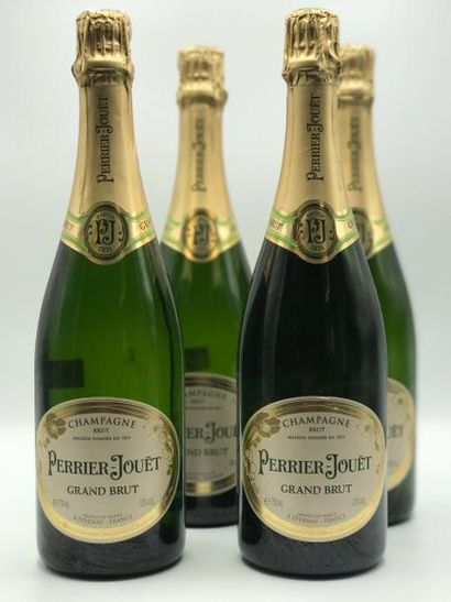 4 bouteilles Champagne Perrier Jouet Brut...