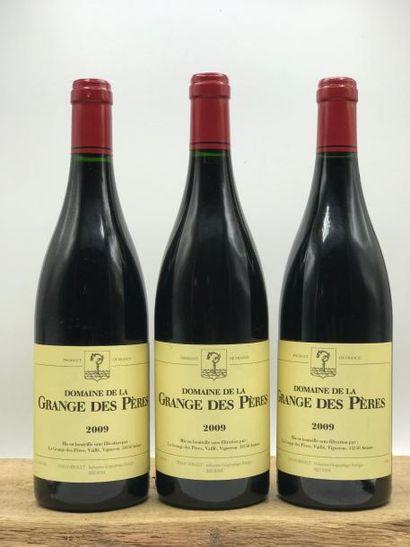 3 bouteilles Grange des Pères (rouge) 2009...