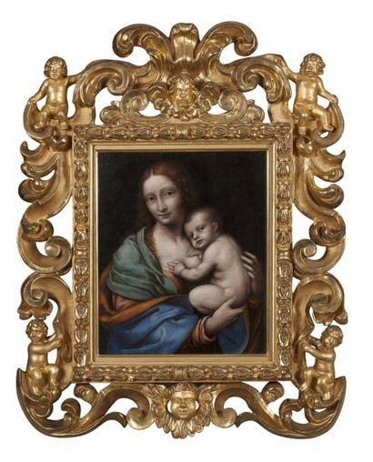 ATTRIBUÉ À GIOVAN PIETRO RIZZOLI DIT GIAMPIETRINO (MILAN 1495 - 1521) Vierge à l'enfant...