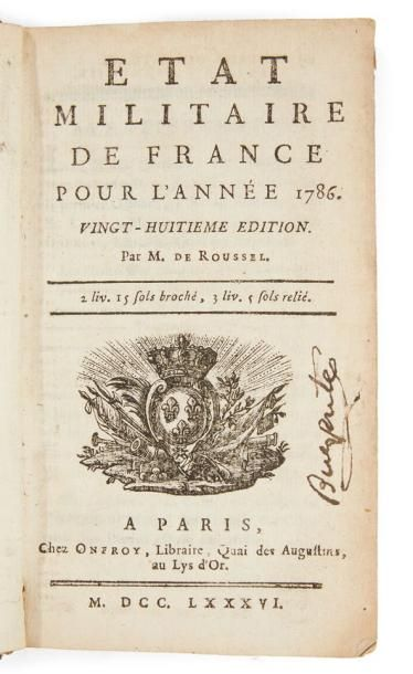 * ÉTAT MILITAIRE DE FRANCE, POUR L'ANNÉE...