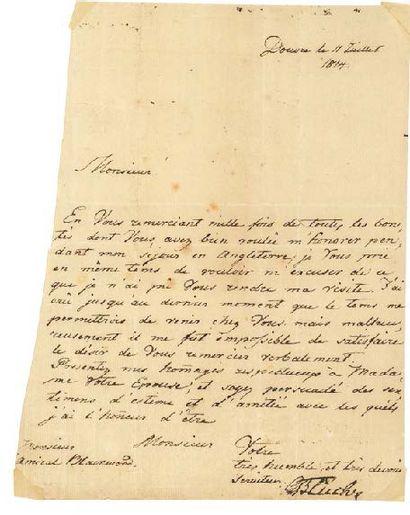 BLÜCHER GEBHARD LEBERECHT VON (1742-1809)<br/>FELD-MARÉCHAL PRUSSIEN