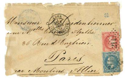 CACHET DE REPÊCHAGE DE 1875 - (PARIS RC)...