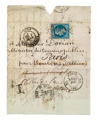 REPÊCHAGE DE 1875 - (PARIS RC) Lm datée de...