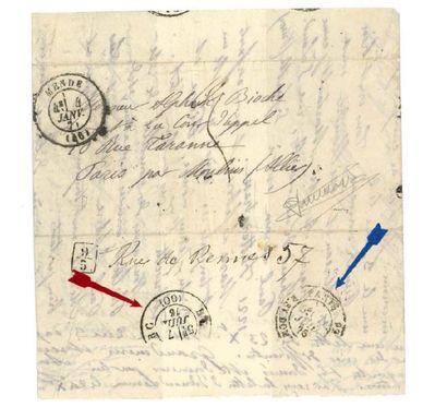 REPÊCHAGE DE 1876 - (PARIS RC) Lm datée de...