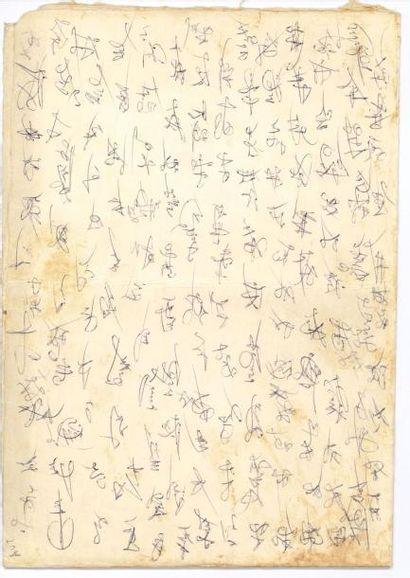 DALI SALVADOR 萨尔瓦多·达利 (1904 - 1989) Deux dessins originaux et essais de signatures...