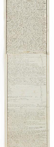 SADE DONATIEN-ALPHONSE-FRANÇOIS, MARQUIS DE 萨德侯爵(1740-1814) MANUSCRIT autographe,...