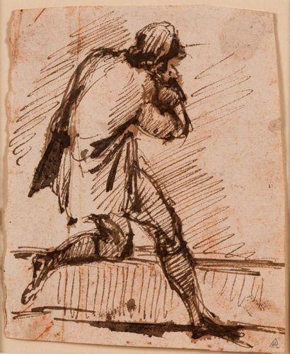 GIOVANNI BATTISTA PIRANESE (MOGLIANO VENETO 1720 - ROME 1778) Etude d'homme courant...