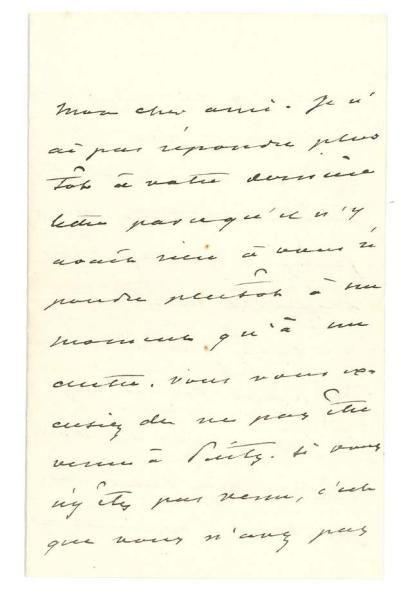 DUMAS FILS ALEXANDRE 小仲马 (1824- 1895) * L.A.S., Marly le roi s.d., à un ami photographe...