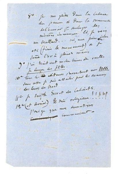 FLAUBERT GUSTAVE 古斯塔夫·福楼拜 (1821-1880) L.A.S., [Croisset] Dimanche [21 août 1859],...