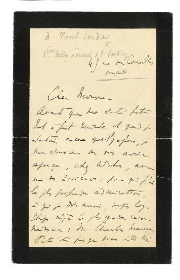 PROUST MARCEL 马赛尔·普鲁斯特 (1871-1922) 3 L.A.S., [1906 et 1922], à Paul SOUDAY; 3 et...