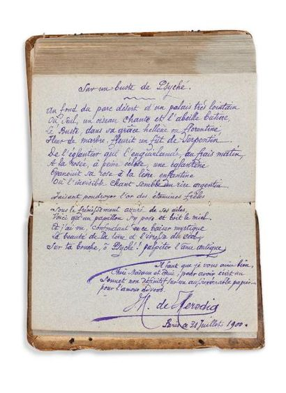LIVRE D'OR DE MADAME BULTEAU ALBUM AMICORUM par plus de 80 écrivains, artistes et...