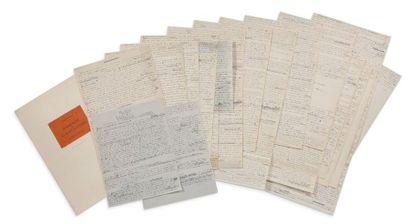BRETON ANDRÉ 安德烈•布勒东 (1896-1966) MANIFESTE DU SURREALISME MANUSCRIT AUTOGRAPHE, Lorient-Paris,...