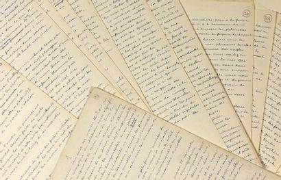 BRETON ANDRÉ 安德烈•布勒东 (1896-1966) POISSON SOLUBLE. MANUSCRIT AUTOGRAPHE. Aout-septembre...