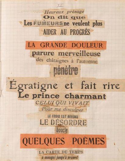 BRETON ANDRÉ 安德烈•布勒东 (1896-1966) POISSON SOLUBLE I. POISSON SOLUBLE II. MANUSCRITS...