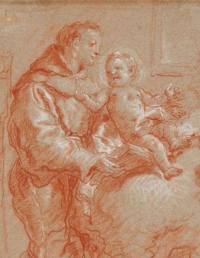 GIOVANNI BATTISTA TIEPOLO 乔凡尼·巴蒂斯塔·提埃坡罗 (VENISE 1696 - MADRID 1770) Saint Antoine...