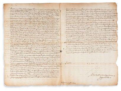 * ÉGYPTE, 1633 L.A.S. par le voyageur Jacques...