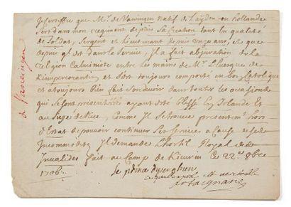 MONTESQUIOU JOSEPH DE, COMTE D'ARTAGNAN (1651-1729) LIEUTENANT GÉNÉRAL, CAPITAINE-LIEUTENANT DES MOU