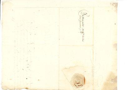 Henri ii (1519-1559) Lettre signée «Henry», Annet 24 juin 1547, à Hercule II d'ESTE,...