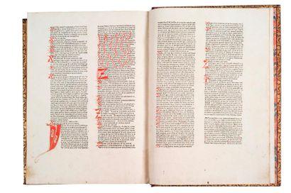 BALBUS (JOHANNES) CATHOLICON MAYENCE, COMPOSÉ PAR JOHANNES GUTENBERG, 1460 [IMPRIMÉ...