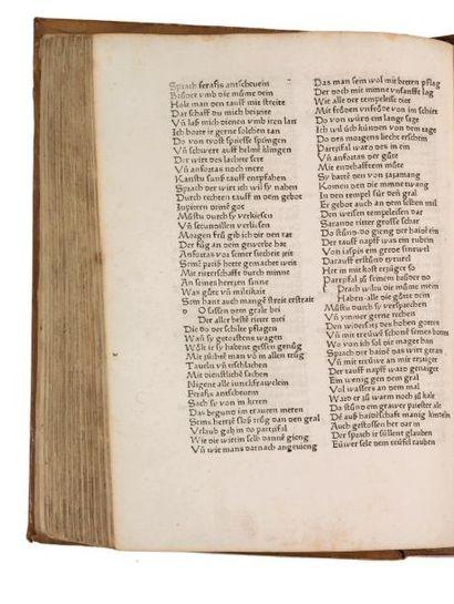 ESCHENBACH (WOLFRAM VON) PARZIVAL [STRASBOURG], [JOHANN MENTELIN], 1477 ET ESCHENBACH...