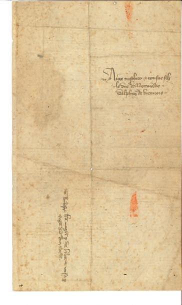JEAN II, DIT LE BON (1319-1364) Lettre signée «Jehan», Windsor 26 novembre, à son...