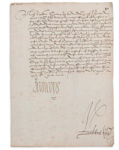 françois ier (1494-1547) 14 lettres signées «Francoys», avriljuillet [1521], au Premier...