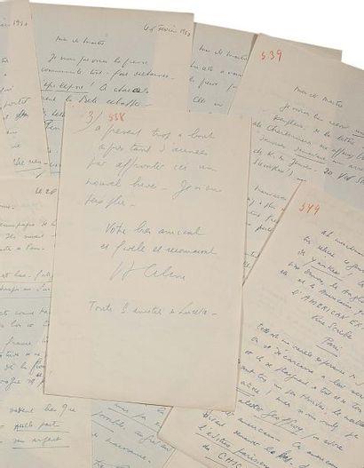 CELINE LOUIS-FERDINAND (1894-1961) 14 L.A.S., février- mars 1950, à son avocat danois...