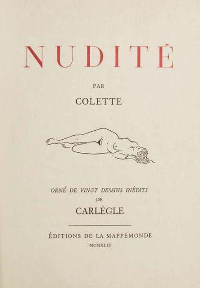 COLETTE SIDONIE-GABRIELLE (1873- 1954)