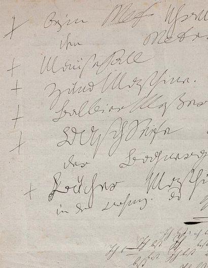 BEETHOVEN Ludwig van (1770-1827) Pièce autographe, [Vienne vers 1817]; 9 lignes sur...