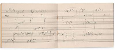 DUKAS Paul (1865-1935) MANUSCRIT MUSICAL autographe, et L.A.S. «PD.»; 14 pages oblong...